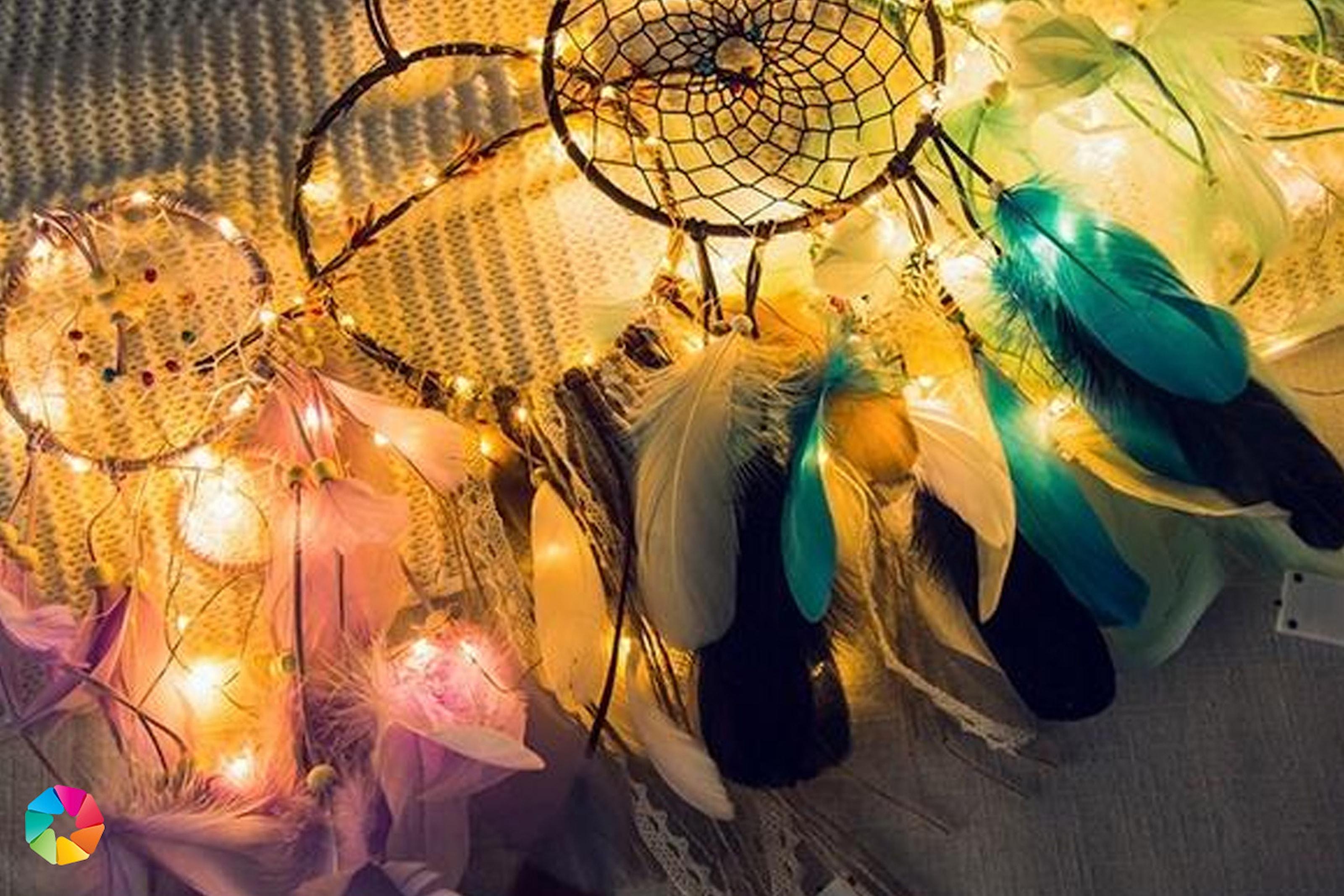 Drømmefanger med LED-lys