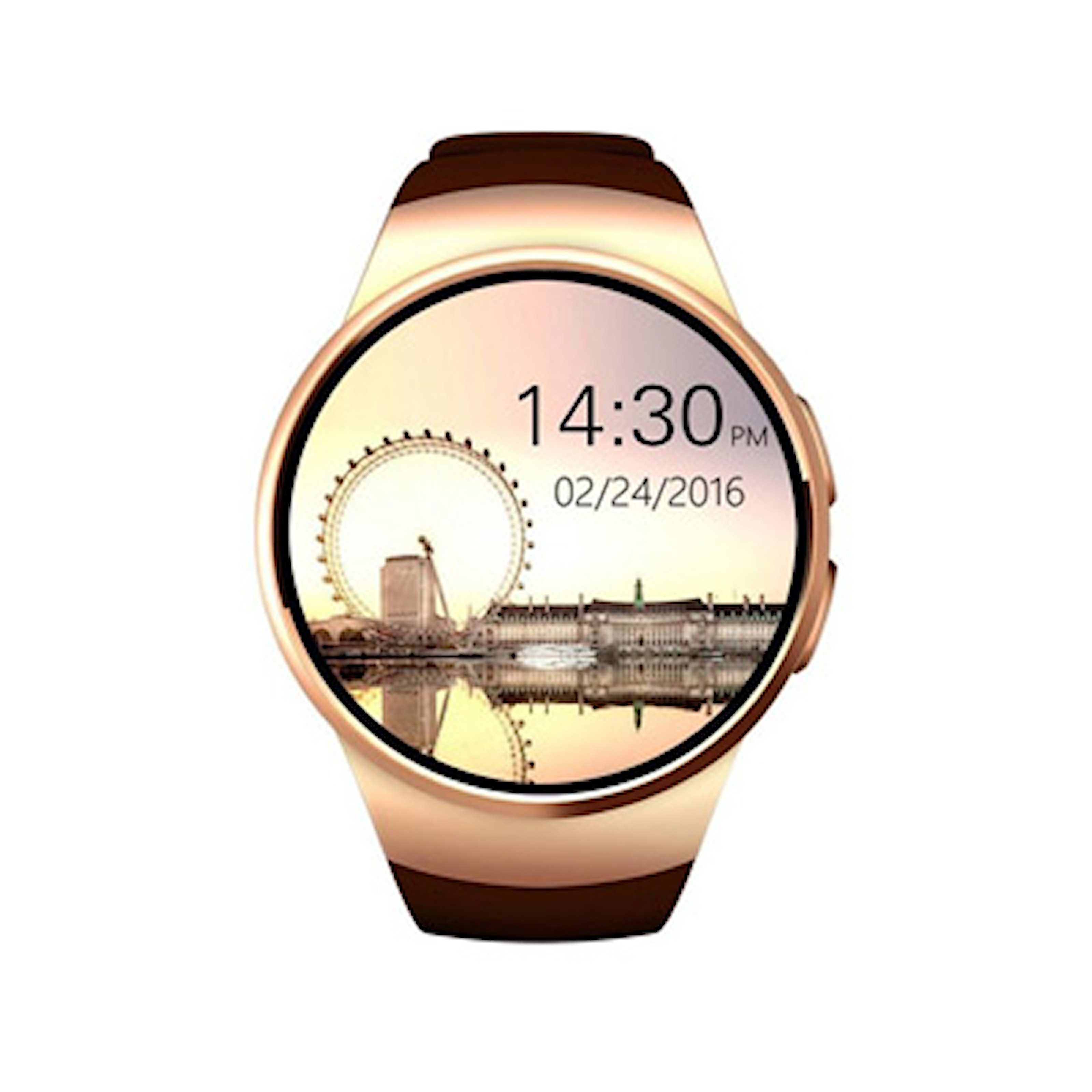 Guld/Brun, 2in1 Bluetooth Watch & Fitness Tracker, 3 Colors, Smartwatch, ,
