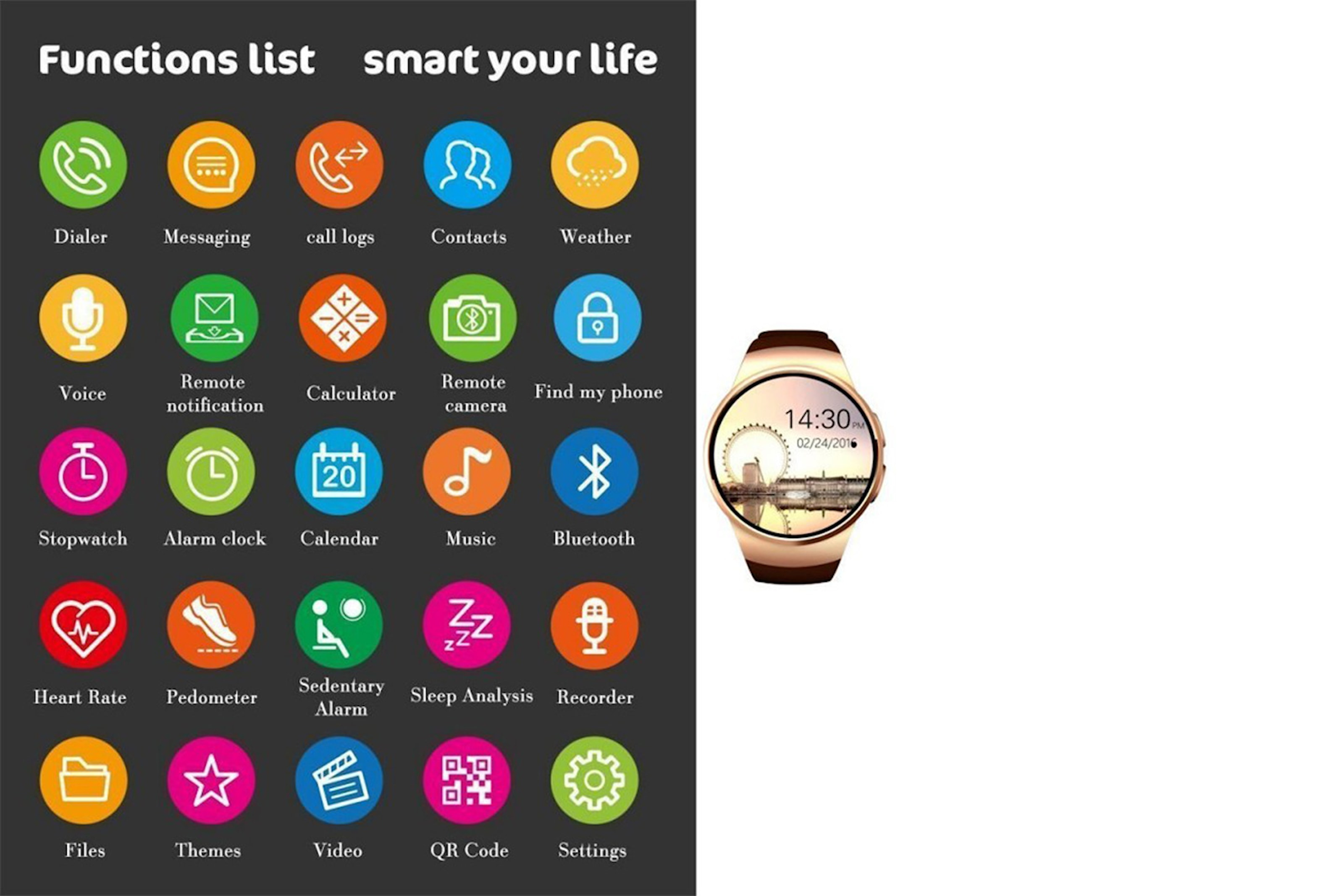 2i1 Bluetooth smartwatch