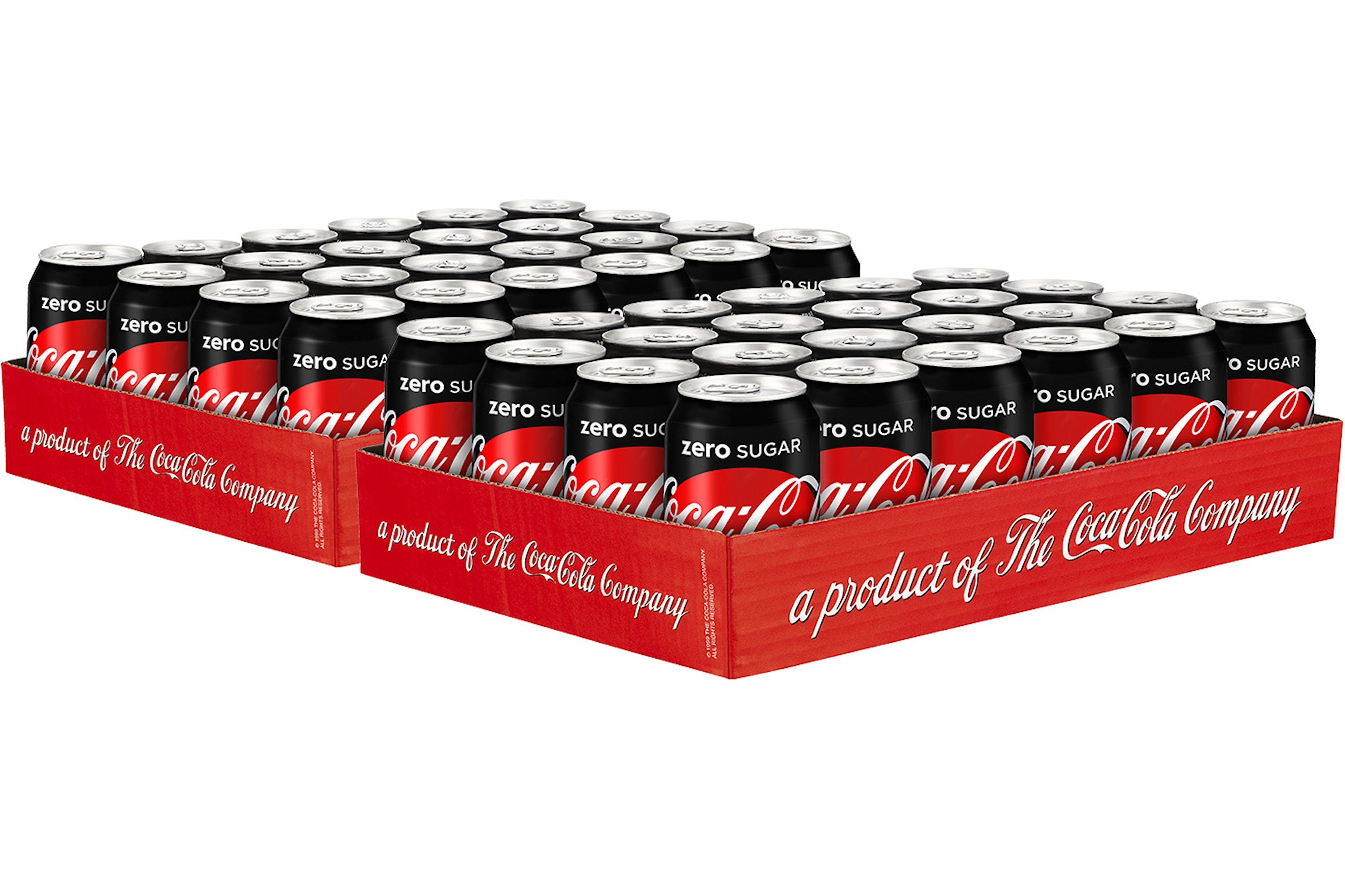 Coca-Cola eller Cola Zero - 48 eller 72 stk