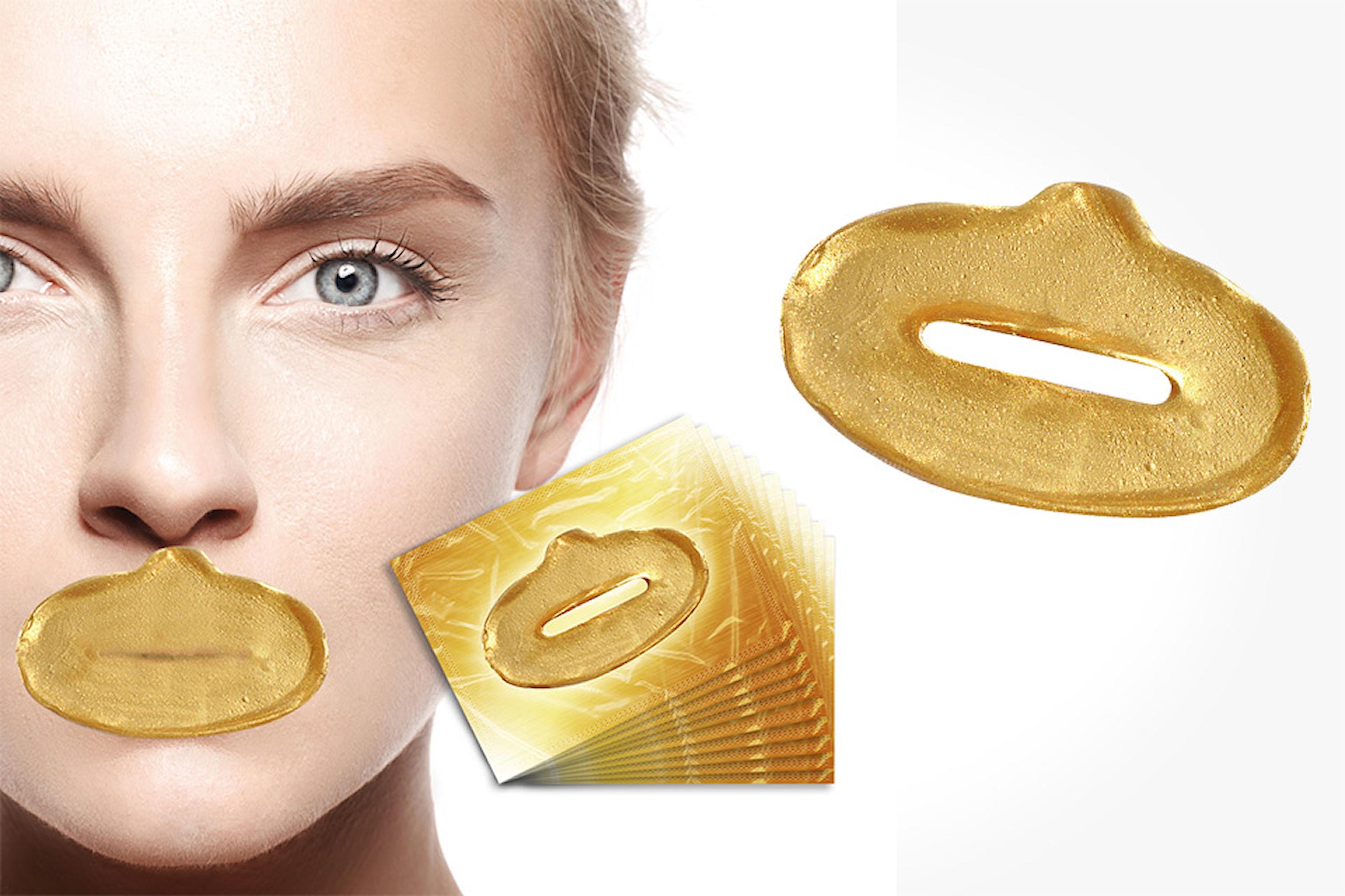 20-pack gold collagen lip mask