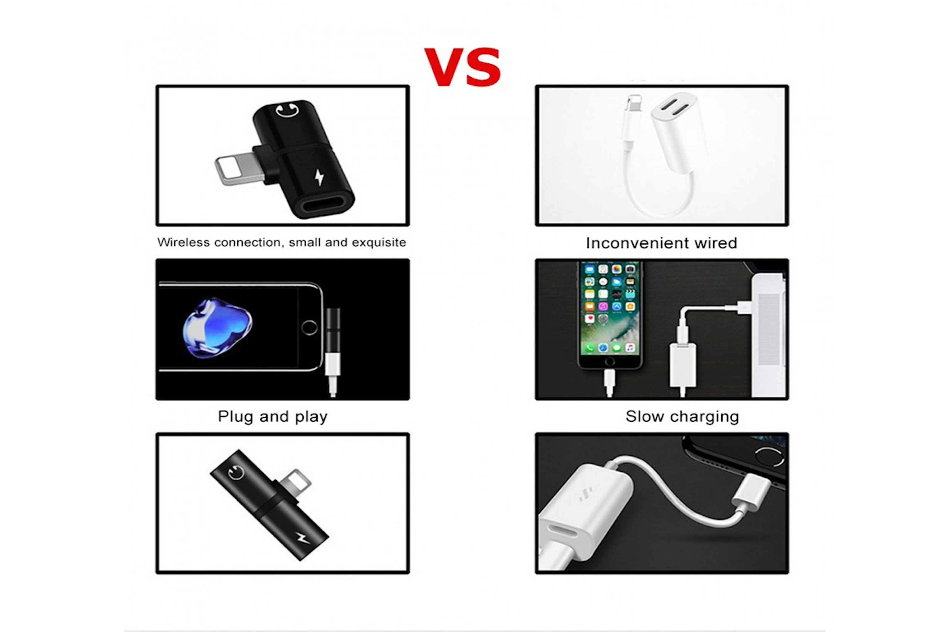Lightning-adapter til Iphone 7/8/X