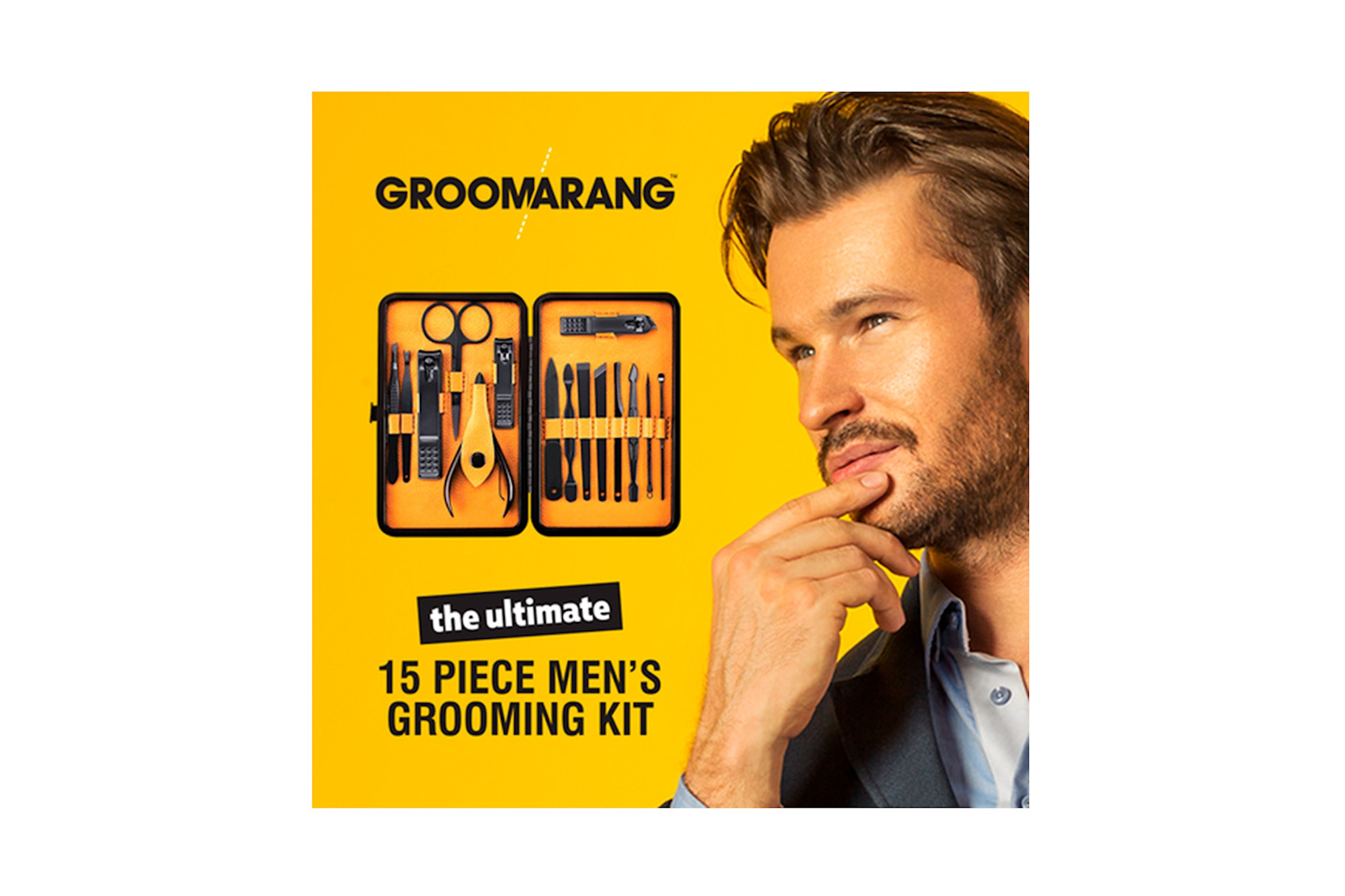 15-pack grooming kit for menn